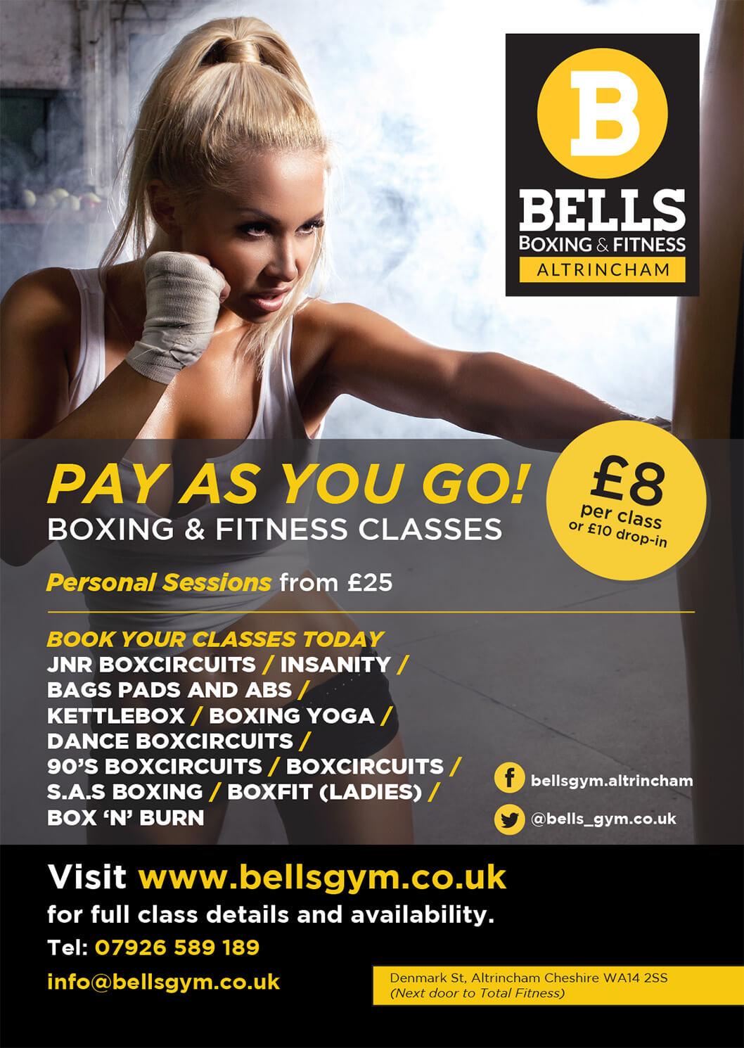 A3 Bells Gym Poster