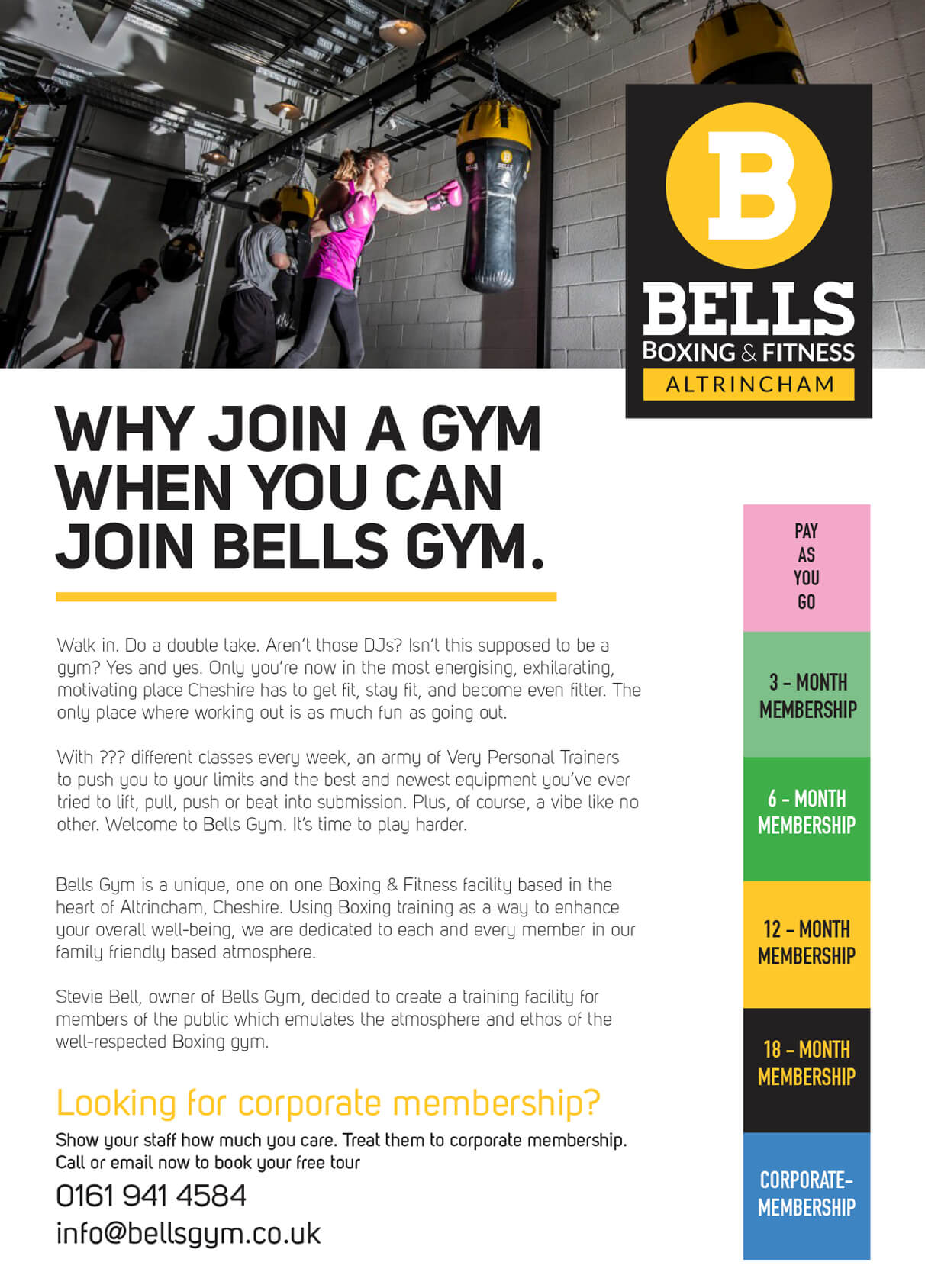 Bells Gym Sales A4