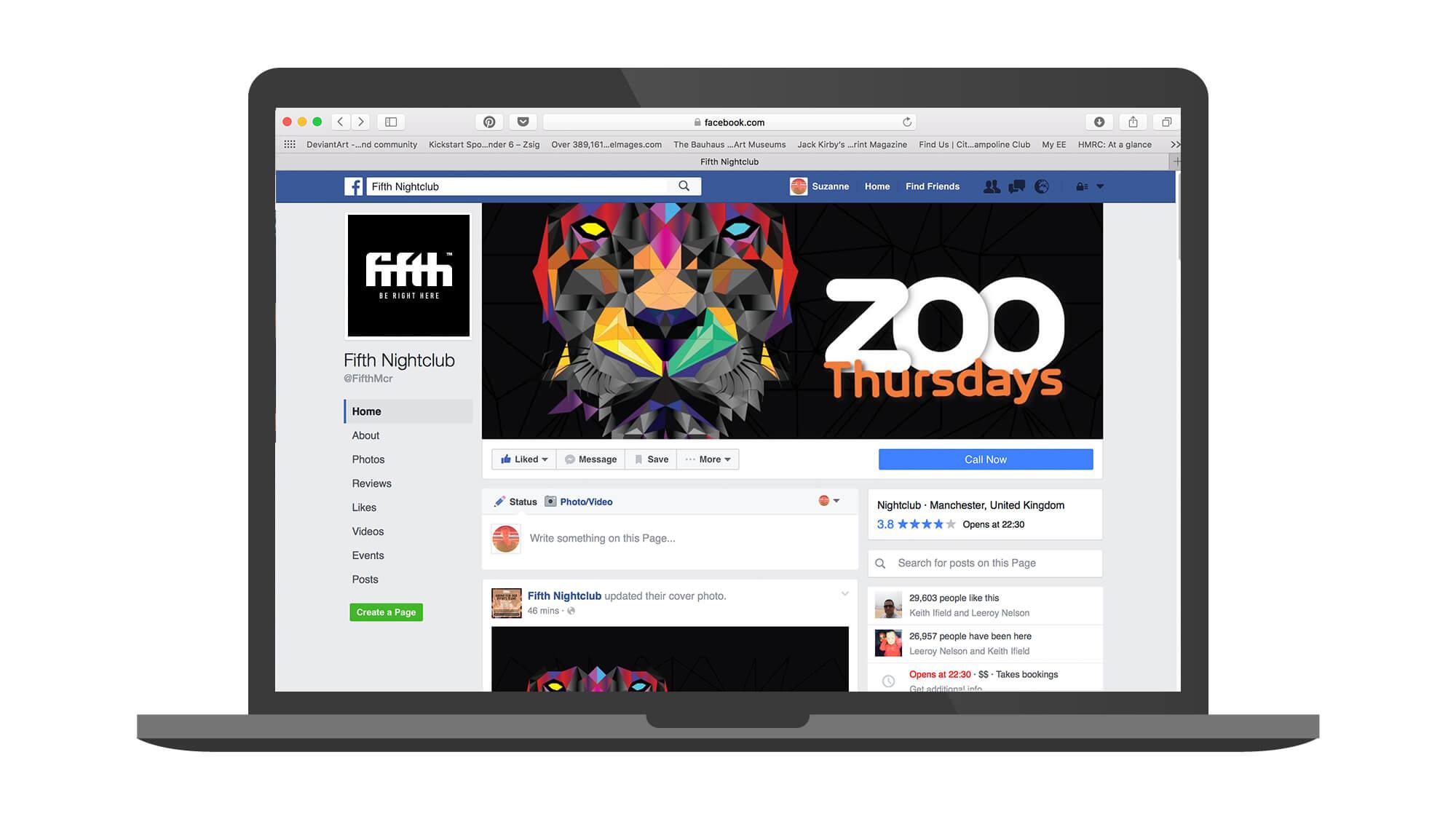 Fifth laptop - facebook