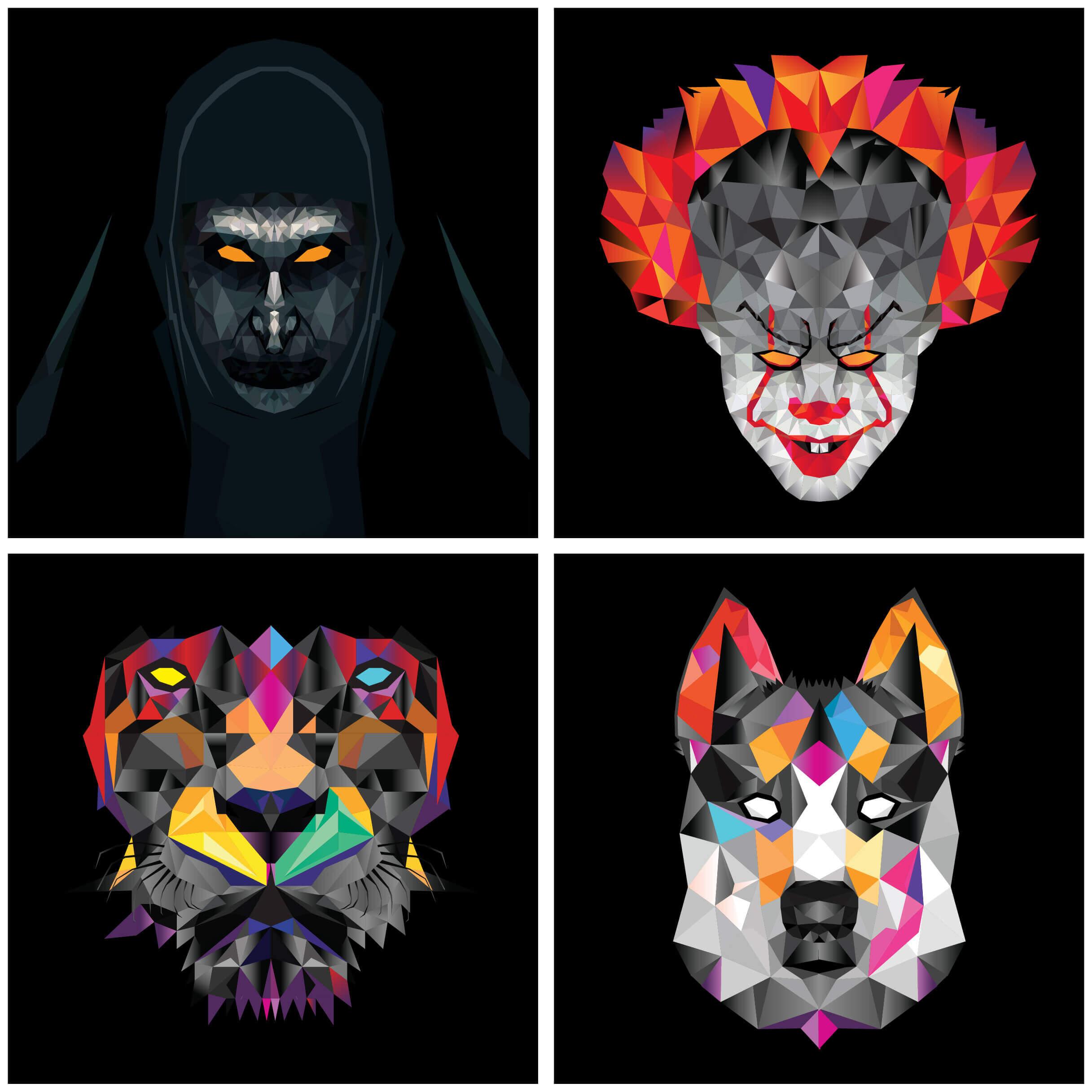 Geometric-faces-01