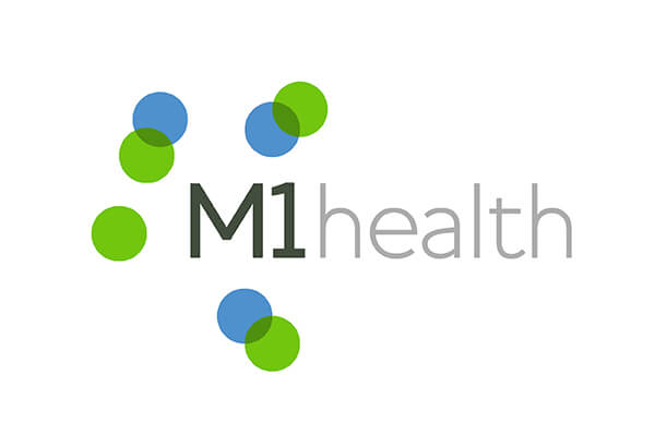 Flexible logo design for M1 Health