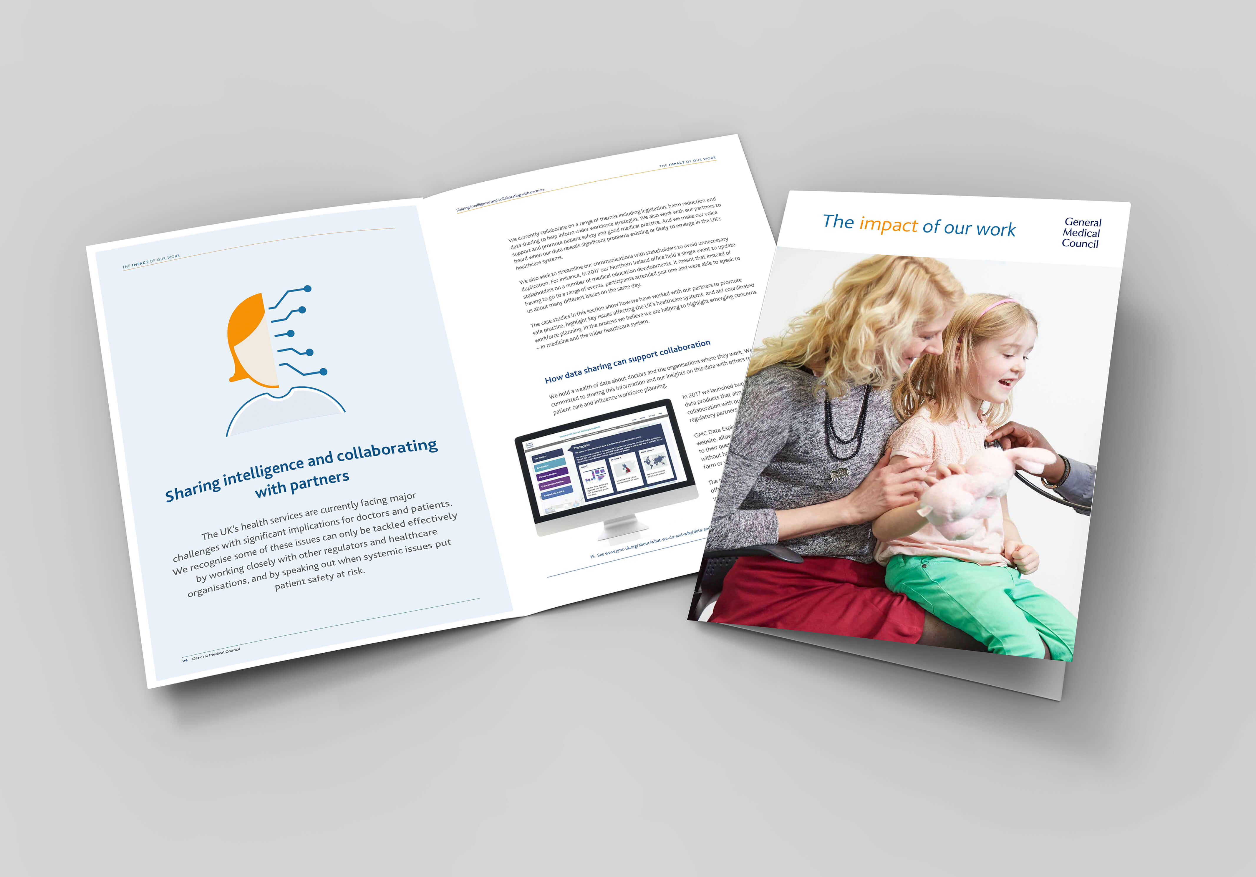 A3 A4 A5 half-fold or by-fold brochure blank white template for mock up and presentation design. 3d illustration.