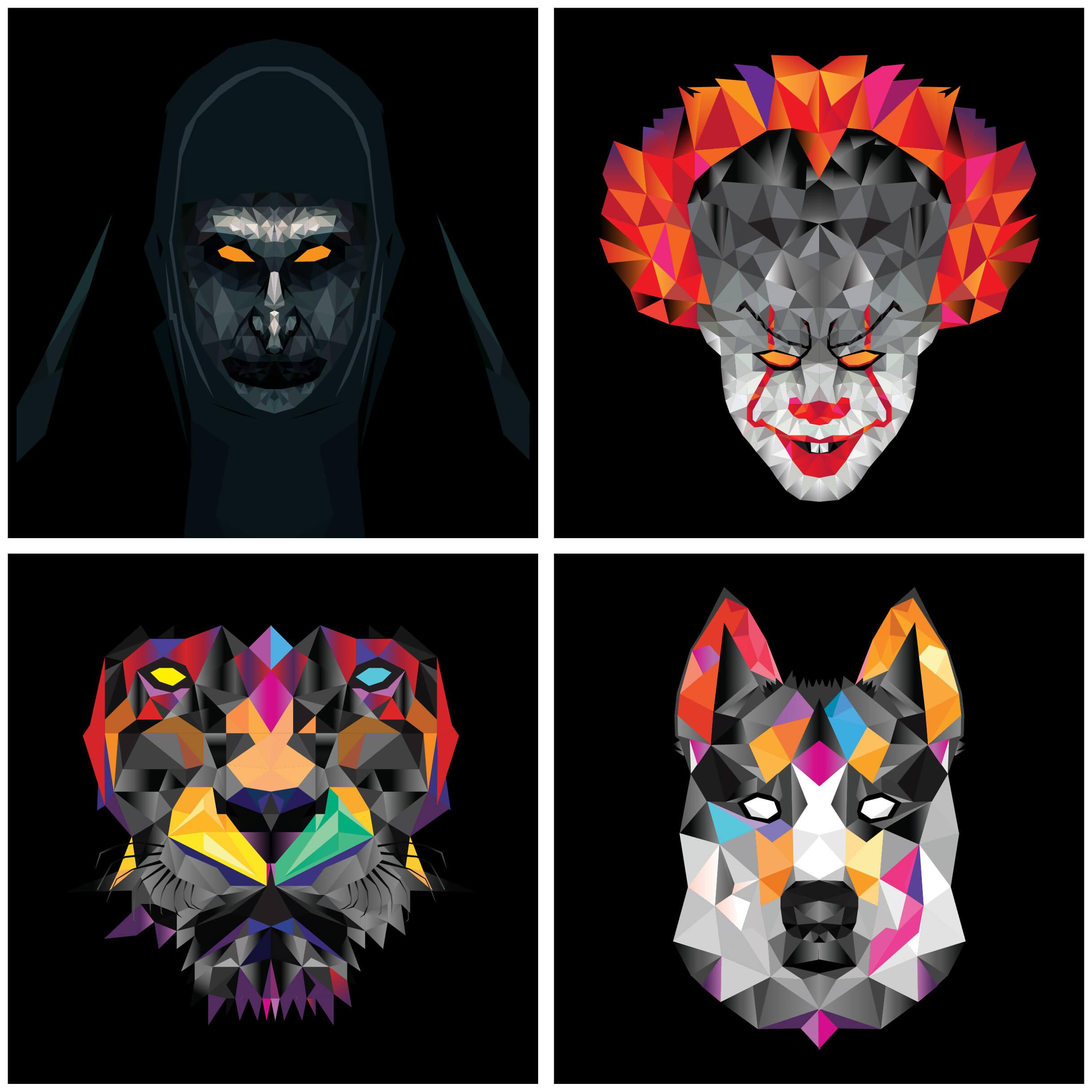 Geometric faces-01