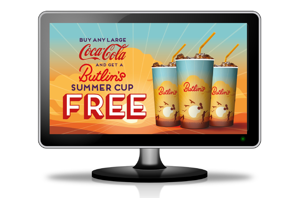 Packaging and Promotional Material Design for Butlins and Coca Cola